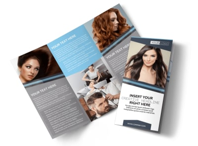 Smartstyle Hair Salon Tri-Fold Brochure Template preview