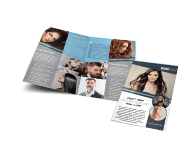 Smartstyle Hair Salon Bi-Fold Brochure Template preview