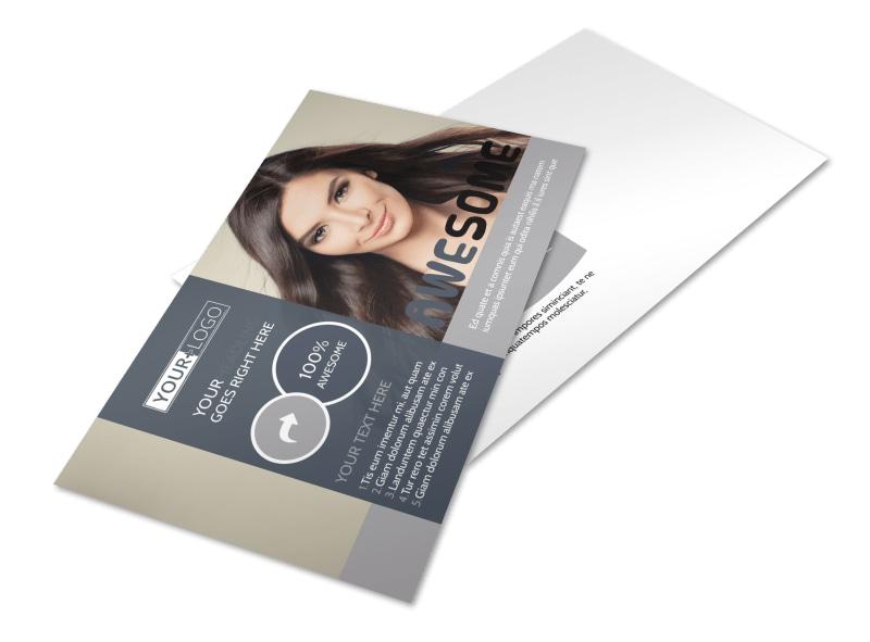 Smartstyle Hair Salon Postcard Template
