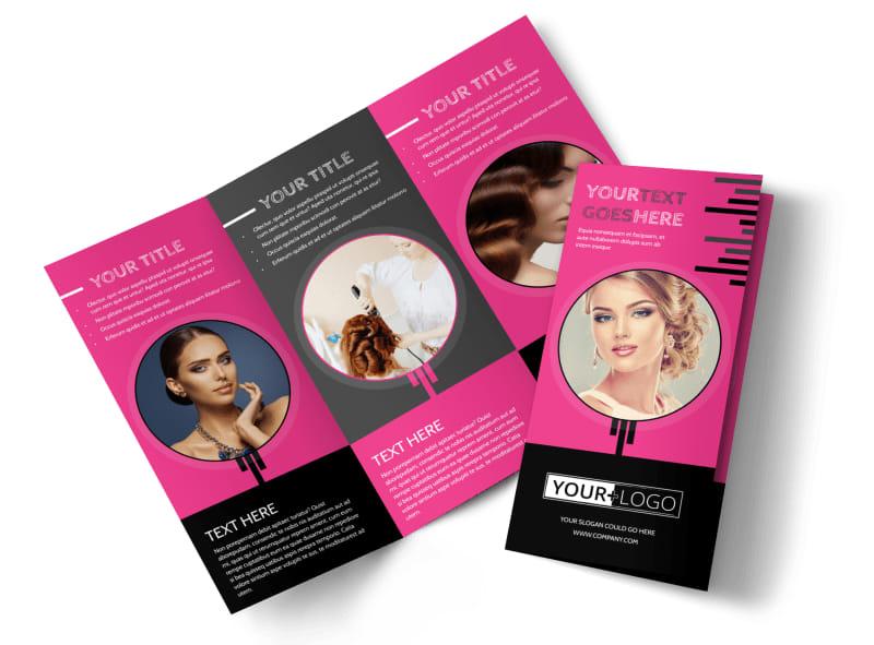 Beauty Queen Salon Tri-Fold Brochure Template