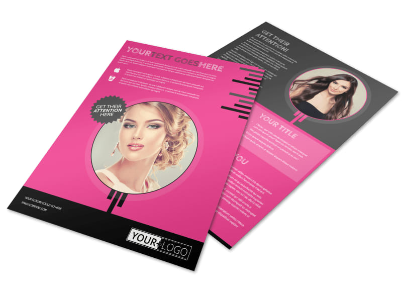 Beauty Queen Salon Flyer Template  Mycreativeshop