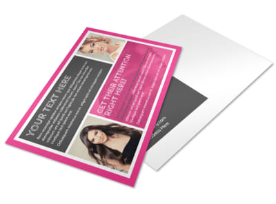Beauty Queen Salon Postcard Template