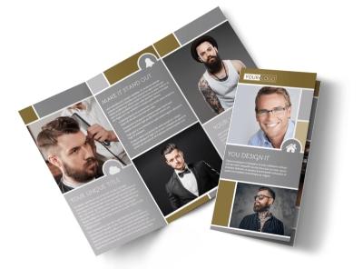 Local Barber Tri-Fold Brochure Template preview