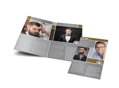 Local Barber Bi-Fold Brochure Template preview