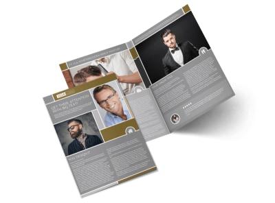 Local Barber Bi-Fold Brochure Template preview