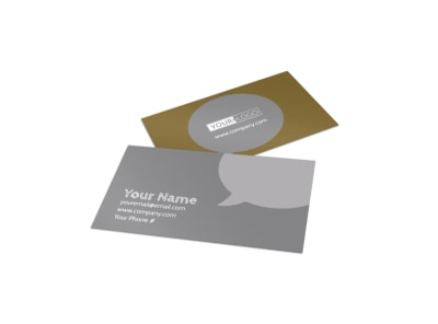 Local Barber Business Card Template preview