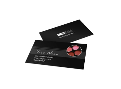 Professional Cosmetics Business Card Template preview