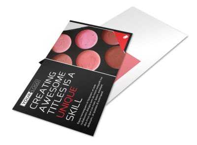 Professional Cosmetics Postcard Template