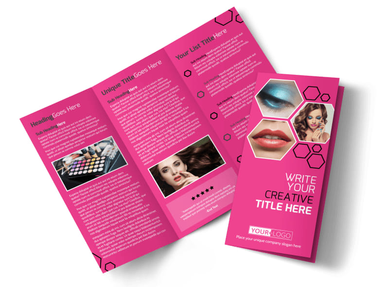 Makeup Professionals Tri-Fold Brochure Template