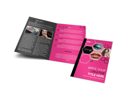 Makeup Professionals Bi-Fold Brochure Template