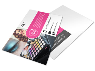 Makeup Professionals Postcard Template