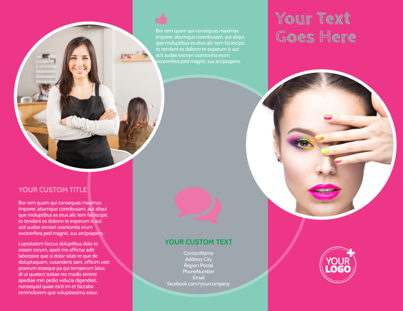 Polished Nail Spa Brochure Template Preview 2