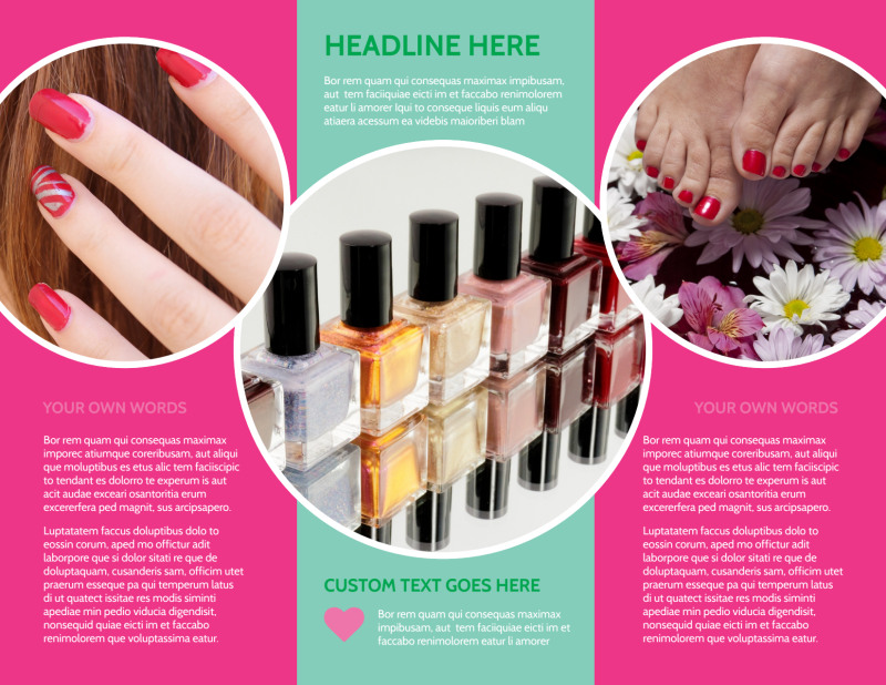 Polished Nail Spa Brochure Template Preview 3