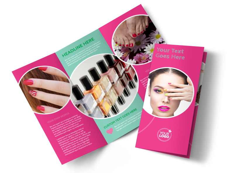Polished Nail Spa Brochure Template Preview 1