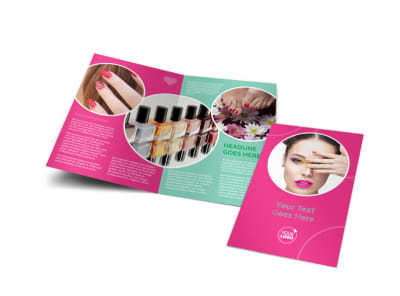 Polished Nail Spa Bi-Fold Brochure Template preview