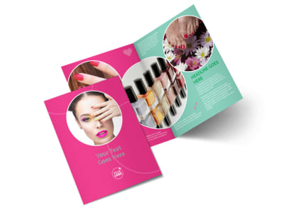 Polished Nail Spa Bi-Fold Brochure Template