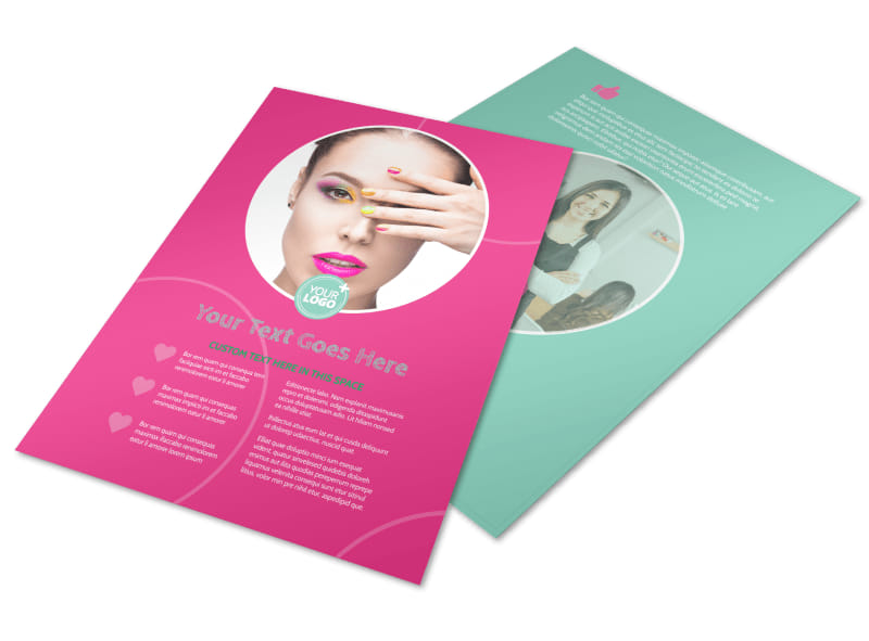 Polished Nail Spa Flyer Template Mycreativeshop