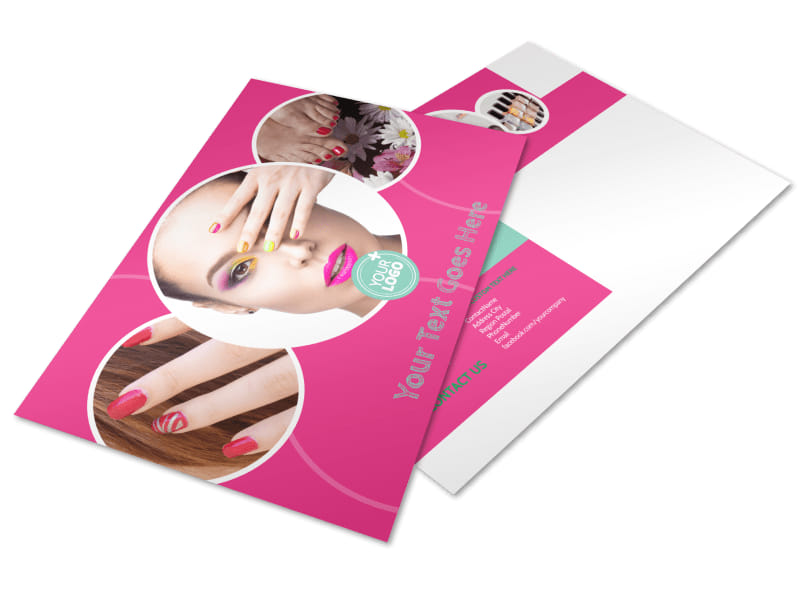 Polished Nail Spa Postcard Template