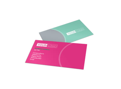 Polished Nail Spa Business Card Template preview