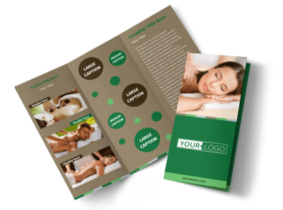 Tranquility Spa Tri-Fold Brochure Template preview