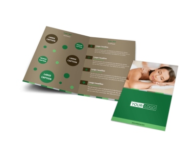 Tranquility Spa Bi-Fold Brochure Template preview
