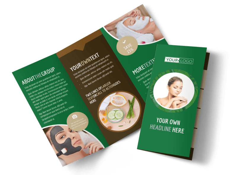 Spa Facial Treatments Brochure Template Preview 4