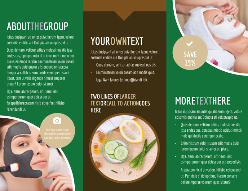 Spa Facial Treatments Brochure Template Preview 3