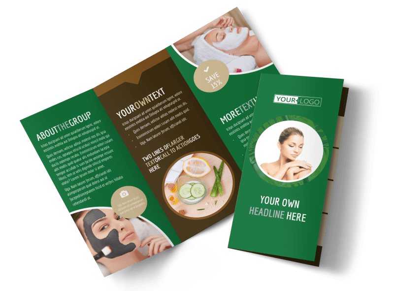 Spa Facial Treatments Brochure Template Preview 1