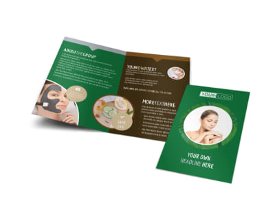 Spa Facial Treatments Bi-Fold Brochure Template preview