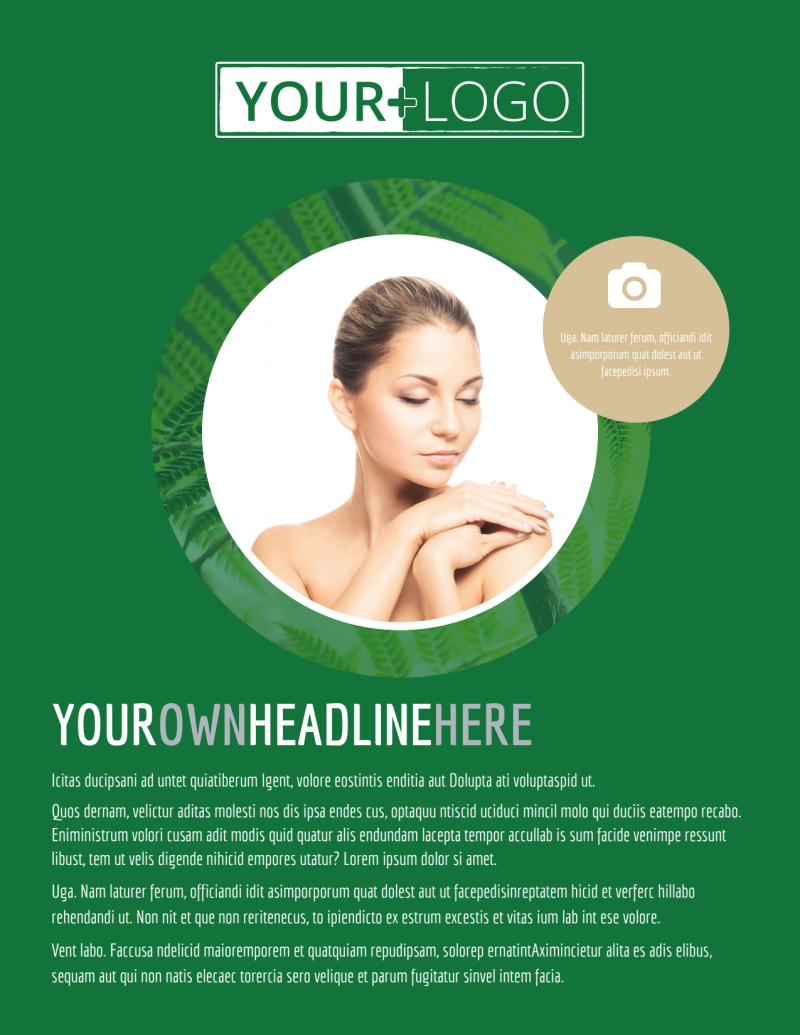 Spa Facial Treatments Flyer Template Preview 2