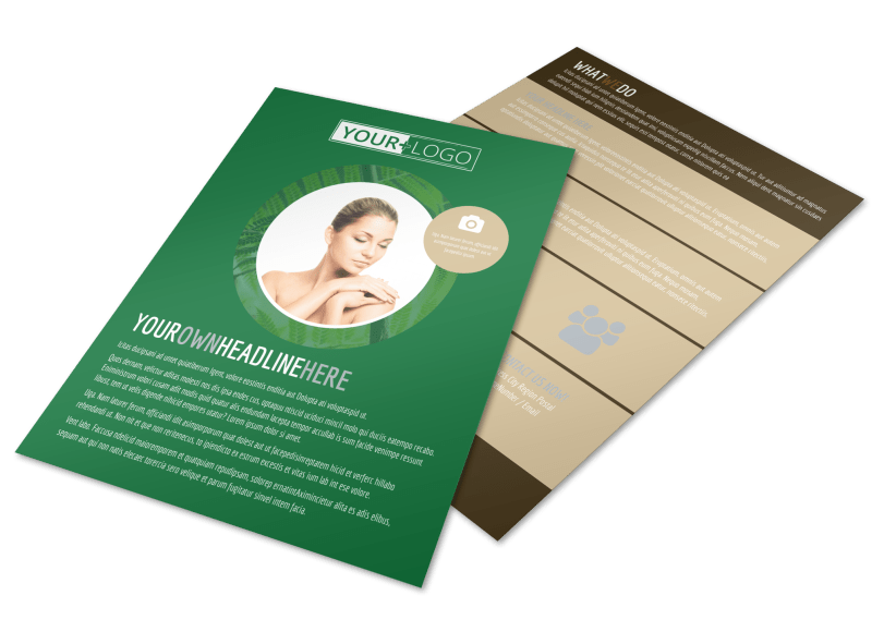 Spa Facial Treatments Flyer Template Preview 1