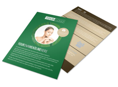 Spa Facial Treatments Flyer Template preview