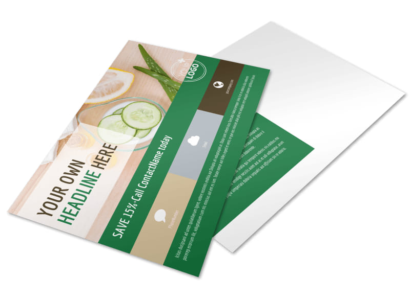 Spa Facial Treatments Postcard Template