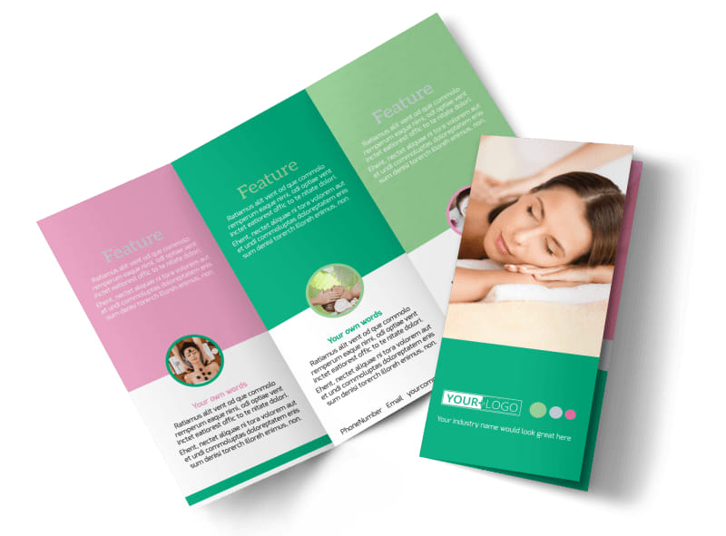 Relaxing Spa Experience Tri-Fold Brochure Template