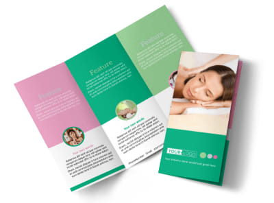 Relaxing Spa Experience Tri-Fold Brochure Template preview