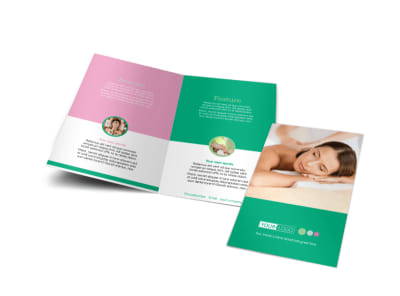 Relaxing Spa Experience Bi-Fold Brochure Template preview