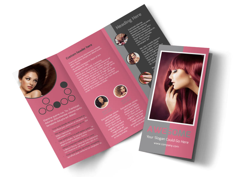 Beauty Experts Tri-Fold Brochure Template