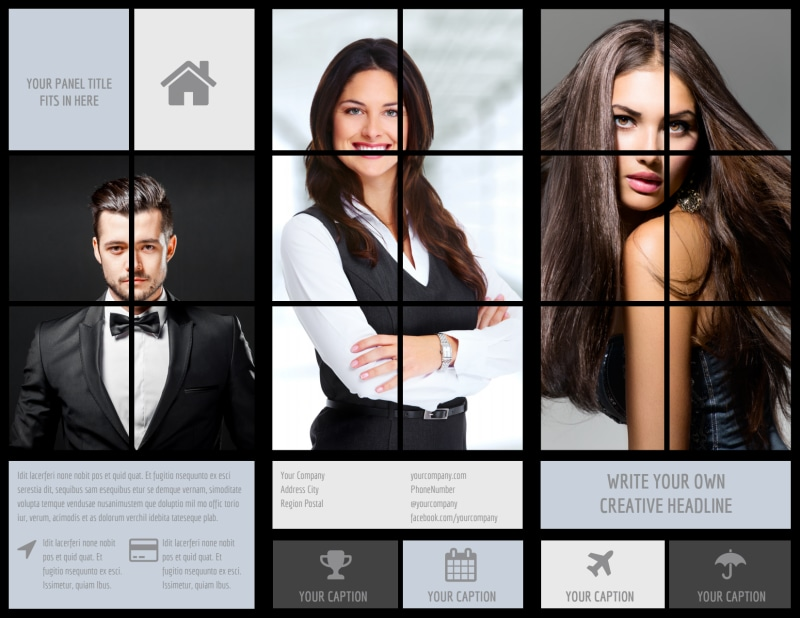 Modeling Agency Brochure Template Preview 2