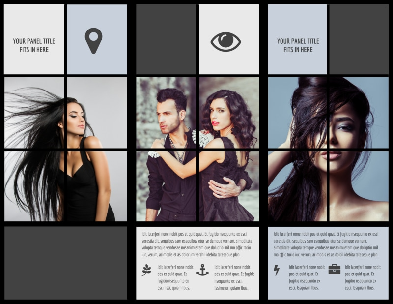Modeling Agency Brochure Template Preview 3