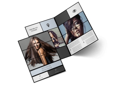Modeling Agency Bi-Fold Brochure Template preview