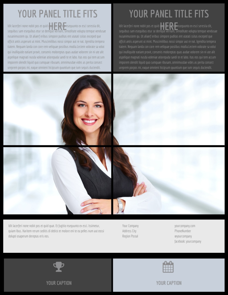 Modeling Agency Flyer Template Preview 3