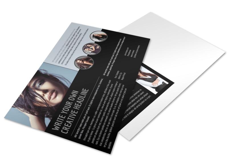 Modeling Agency Postcard Template