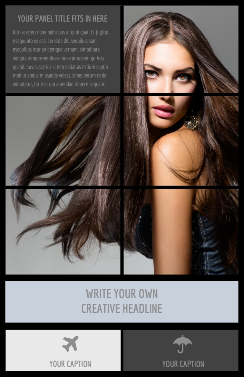 Modeling Agency Flyer Template Preview 2
