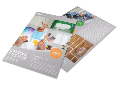 Home Drywall & Painting Flyer Template preview