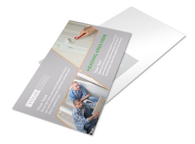 Home Drywall & Painting Postcard Template preview