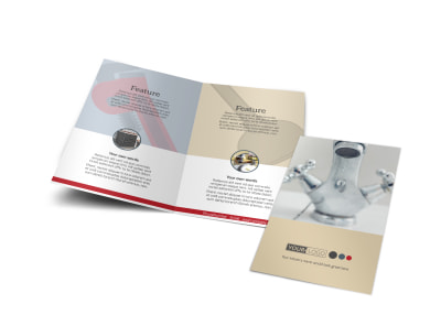Heating & Plumbing Professionals Bi-Fold Brochure Template preview