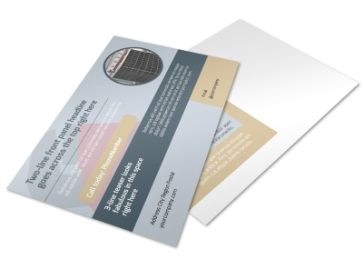 Heating & Plumbing Professionals Postcard Template preview