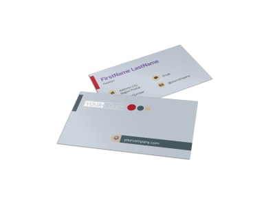 Heating & Plumbing Professionals Business Card Template preview