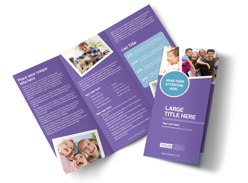 Child Adoption Services Tri-Fold Brochure Template
