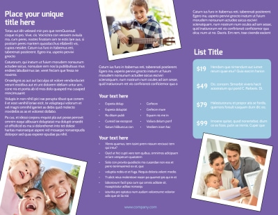 Child Adoption Services Brochure Template Preview 2